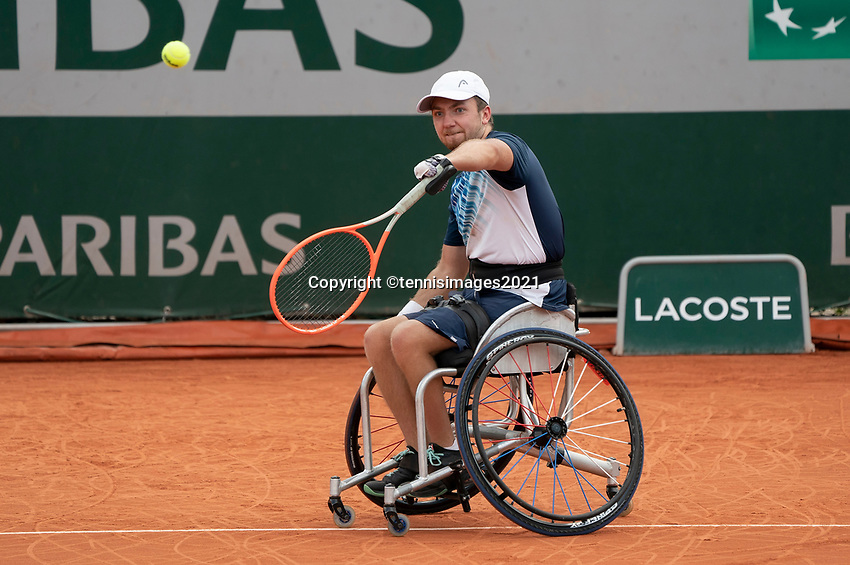 Paris, France, 6 june 2021, Tennis, French Open, Roland Garros, Quad  Wheelchair mens double final:  Sam Schroder (NED) and Dylan Alcott<br /> Photo: tennisimages.com