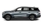 Car Driver side profile view of a 2021 Lincoln Aviator - 5 Door SUV Side View