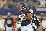 Houston Texans defensive end Keith Browner (98) in action during the pre-season game between the Houston Texans and the Dallas Cowboys at the AT & T stadium in Arlington, Texas. Houston defeats Dallas 24 to 6.