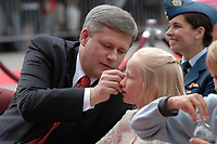 Ottawa (ON) CANADA, July 1st, 2007 -<br /> <br /> Stephen Harper, Prime Minister of canada <br /> and his daughter Rachel ,  during<br /> Canada day celebration in the national capital.<br /> photo : (c)  Michel Karpoff - Images Distribution