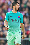 Luis Suarez of FC Barcelona in action during their La Liga match between Atletico de Madrid and FC Barcelona at the Santiago Bernabeu Stadium on 26 February 2017 in Madrid, Spain. Photo by Diego Gonzalez Souto / Power Sport Images