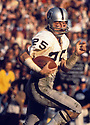 Oakland Raiders, Fred Biletnikoff(85) in action during a game from his career. Fred Biletnikoff played 14 years, all for the Oakland Raiders.  He was an 6-time Pro Bowler, 2-time first team Pro Bowler and was inducted to the Pro Football Hall of Fame in 1988.