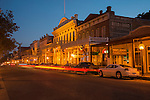 2nd Street in the evening in Old Sacramento, Calif.