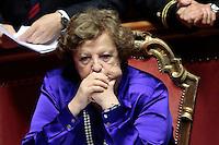 Anna Maria Cancellieri.Roma 21/05/2013 Senato. Il Premier riferisce al Senato sul consiglio UE..Italian Premier's speech at the Senate about UE..Photo Samantha Zucchi Insidefoto