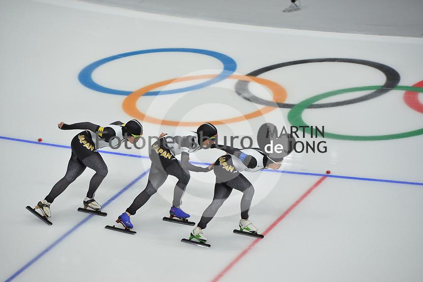 OLYMPIC GAMES: PYEONGCHANG: 19-02-2018, Gangneung Oval, Long Track, Team Pursuit Ladies, Team Japan, ©photo Martin de Jong