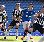 Rangers v St Mirren:  Rangers striker Cedric Itten feels the attentions of St Mirren's  Joe Shaughnessey