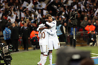 Pictured: Jonathan de Guzman (L), Michu (R). Sunday 24 February 2013<br /> Re: Capital One Cup football final, Swansea v Bradford at the Wembley Stadium in London.