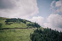 up the Col de Val Louron-Azet <br /> <br /> Stage 17: Bagnères-de-Luchon > Saint-Lary-Soulan (65km)<br /> <br /> 105th Tour de France 2018<br /> ©kramon
