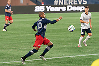 FOXBOROUGH, MA - OCTOBER 19: Teal Bunbury #10 of New England Revolution during a game between Philadelphia Union and New England Revolution at Gillette on October 19, 2020 in Foxborough, Massachusetts.