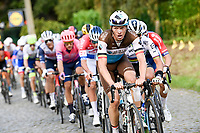 Oliver Naesen (BEL/AG2R-LaMondiale) leading the way<br /> <br /> 104th Ronde van Vlaanderen 2020 (1.UWT)<br /> 1 day race from Antwerpen to Oudenaarde (BEL/243km) <br /> <br /> ©kramon