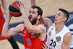 Turkish Airlines Euroleague.<br /> Final Four - Vitoria-Gasteiz 2019.<br /> Semifinals.<br /> CSKA Moscow vs Real Madrid: 95-90.<br /> Sergio Rodriguez vs Jaycee Carroll.