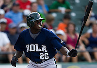 Maybin, Cameron 3177.jpg.  PCL baseball featuring the New Orleans Zephyrs at Round Rock Express  at Dell Diamond on June 19th 2009 in Round Rock, Texas. Photo by Andrew Woolley.