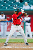 Mallex Smith (3) of the Fort Wayne TinCaps at bat against the Lansing Lugnuts at Cooley Law School Stadium on June 5, 2013 in Lansing, Michigan.  The TinCaps defeated the Lugnuts 8-5.  (Brian Westerholt/Four Seam Images)