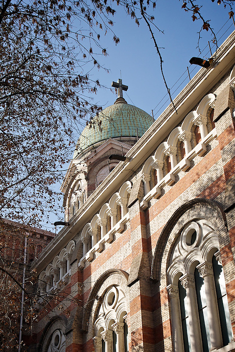 """French Cathedral (""""Mission Catholique"""" ), Now Known As Xi Kai.  Tianjin (Tientsin)."""