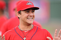 Infielder Michael Chavis (11) of the Greenville Drive is pictured before a game against the Augusta GreenJackets on Thursday, June 11, 2015, at Fluor Field at the West End in Greenville, South Carolina. Chavis was a first-round pick of the Boston Red Sox in the 2014 First-Year Player Draft. (Tom Priddy/Four Seam Images)