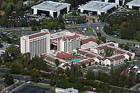 aerial photograph Marriott hotel, Santa Clara, California
