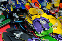 Thousand of slippers, in a market in the Philippines