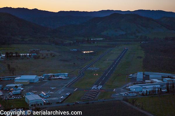 Lampson Field Airport (1O2) at dusk, Lakeport, Lake County, California