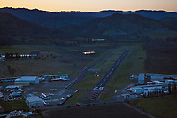 Lampson Field Airport (1O2) at dusk, Lakeport, Lake County, California