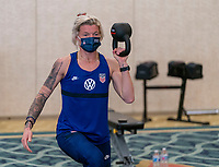 ORLANDO, FL - JANUARY 12: Jane Campbell #24 of the USWNT works out at the team hotel on January 12, 2021 in Orlando, Florida.