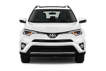 Car photography straight front view of a 2018 Toyota RAV4 XLE 5 Door SUV Front View