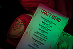 A 'Crazy Menu' of Moscow Marusya, women night club is seen suggesting a different types of club's service. Moscow. Russia. 2014