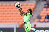 HOUSTON, TX - FEBRUARY 3: Kerly Theus #12 of Haiti makes a save during a game between Panama and Haiti at BBVA Stadium on February 3, 2020 in Houston, Texas.