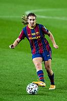 6th January 2021; Camp Nou, Barcelona, Spain. La Liga Womens league football FC Barcelona versus Rcd Espanyol; 9 Mariona Caldenteny passes the ball away during the Liga Iberdrola match