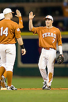 NCAA Baseball featuring the Texas Longhorns against the Missouri Tigers. Etier, Jordan 3707  at the 2010 Astros College Classic in Houston's Minute Maid Park on Sunday, March 7th, 2010. Photo by Andrew Woolley