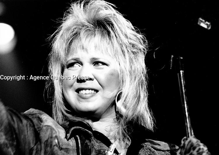 1987  File Photo- Montreal, Quebec , Canada  -la chanteuse LUBA en spectacle, le 16 juillet 1987<br /> <br />  - PHOTO D'ARCHIVE :  Agence Quebec Presse