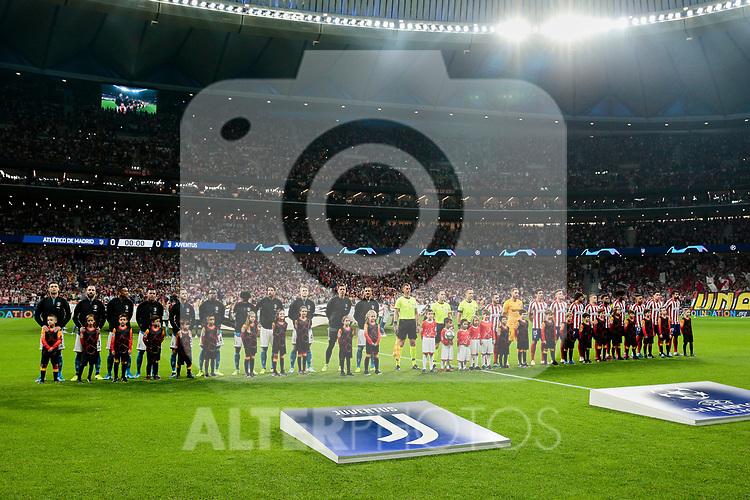 Atletico de Madrid and Juventus during UEFA Champions League match between Atletico de Madrid and Juventus at Wanda Metropolitano Stadium in Madrid, Spain. September 18, 2019. (ALTERPHOTOS/A. Perez Meca)
