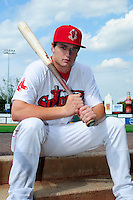 Lowell Spinners center fielder Tate Matheny (11) poses for a photo prior to a game versus the Hudson Valley Renegades at Lelacheur Park on August 30, 2015 in Lowell, Massachusetts.  (Ken Babbitt/Four Seam Images)