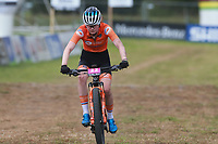 28th August 2021; Commezzadura, Trentino, Italy;  2021 Mountain Bike Cycling World Championships, Val di Sole; Cross Country, Womens Under 23,  Puck Pieterse (NED)