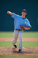 Tampa Bay Rays pitcher Michael Mercado (16) delivers a pitch during an Instructional League game against the Pittsburgh Pirates on October 3, 2017 at Pirate City in Bradenton, Florida.  (Mike Janes/Four Seam Images)