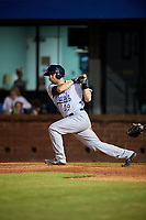 Pensacola Blue Wahoos designated hitter Devin Mesoraco (39) follows through on a swing during a game against the Mobile BayBears on April 25, 2017 at Hank Aaron Stadium in Mobile, Alabama.  Mobile defeated Pensacola 3-0.  (Mike Janes/Four Seam Images)