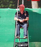 August 9, 2014, Netherlands, Rotterdam, TV Victoria, Tennis, National Junior Championships, NJK,  Umpire Peter van de Hooven<br /> Photo: Tennisimages/Henk Koster
