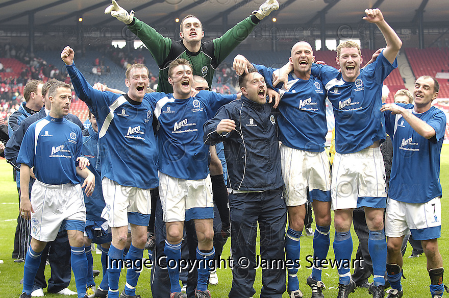 12/04/2008    Copyright Pic: James Stewart.File Name : sct_jspa26_qots_v_aberdeen.QUEEN OF THE SOUTH PLAYERS CELEBRATE AT THE END OF THE GAME...James Stewart Photo Agency 19 Carronlea Drive, Falkirk. FK2 8DN      Vat Reg No. 607 6932 25.Studio      : +44 (0)1324 611191 .Mobile      : +44 (0)7721 416997.E-mail  :  jim@jspa.co.uk.If you require further information then contact Jim Stewart on any of the numbers above........