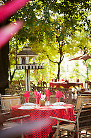 A restaurant for tourists at the entrance to the ancient city of Ava, Myanmar