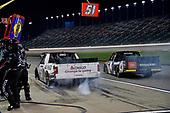 #51: Brandon Jones, Kyle Busch Motorsports, Toyota Tundra Chigo/Menards and #4: Todd Gilliland, Kyle Busch Motorsports, Toyota Tundra JBL/SiriusXM