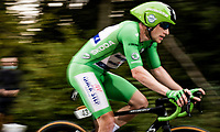 Green Jersey Sam Bennett (IRE/Deceuninck-Quick Step) on the steep parts of the individual time trial up the infamous Planche des Belles Filles<br /> <br /> Stage 20 (ITT) from Lure to La Planche des Belles Filles (36.2km)<br /> <br /> 107th Tour de France 2020 (2.UWT)<br /> (the 'postponed edition' held in september)<br /> <br /> ©kramon