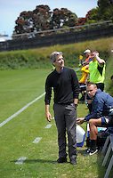 Auckland City FC coach Ramon Tribulietx during the Stirling Sports Premiership football match between Team Wellington and Auckland City FC at David Farrington Park in Wellington, New Zealand on Sunday, 8 January 2017. Photo: Dave Lintott / lintottphoto.co.nz