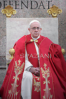 Pope Francis during of the Palm Sunday celebration on St Peter's square at the Vatican.April 13,2014