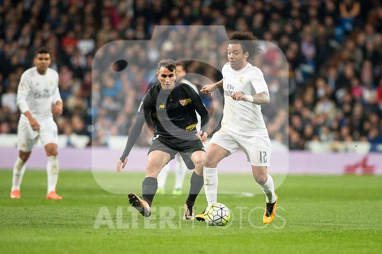 Real Madrid's Marcelo Vieira during La Liga match. March 20,2016. (ALTERPHOTOS/Borja B.Hojas)