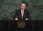 Opening of GA 72 2017 AM<br /> <br /> His Excellency Recep Tayyip Erdoğan, President of the Republic of Turkey
