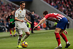 Real Madrid's Lucas Vazquez during La Liga match between Atletico de Madrid and Real Madrid at Wanda Metropolitano Stadium in Madrid, Spain. February 09, 2019. (ALTERPHOTOS/A. Perez Meca)