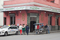 Cuba, Havana.  El Floridita, a Bar made famous by Ernest Hemingway.