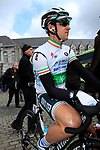 Irish National Champion Matt Brammeier (IRL) Omega Pharma-Quick Step at sign on before the start of the 98th edition of Liege-Bastogne-Liege outside the Palais des Princes-Eveques, running 257.5km from Liege to Ans, Belgium. 22nd April 2012.  <br /> (Photo by Eoin Clarke/NEWSFILE).