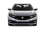 Car photography straight front view of a 2020 Honda Civic-Sedan Sport 4 Door Sedan Front View