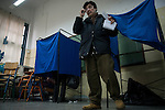 Athens, Greece, January 25, 2015. Greeks voting in a school in the Exarhia neighbourhood polling station.