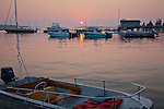 A red sunrise in Southwest Harbor, Downeast ME, USA
